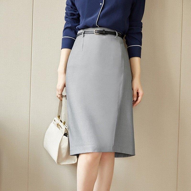 西裝裙半身裙-高腰包臀開叉中長款女裙子74am8【獨家進口】【米蘭精品】