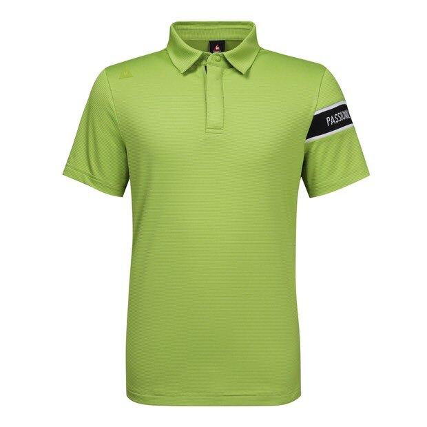 le coq sportif golf 男款高爾夫短袖上衣(綠)