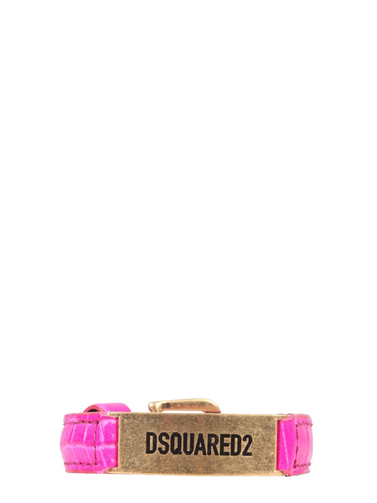 dsquared leather bracelet