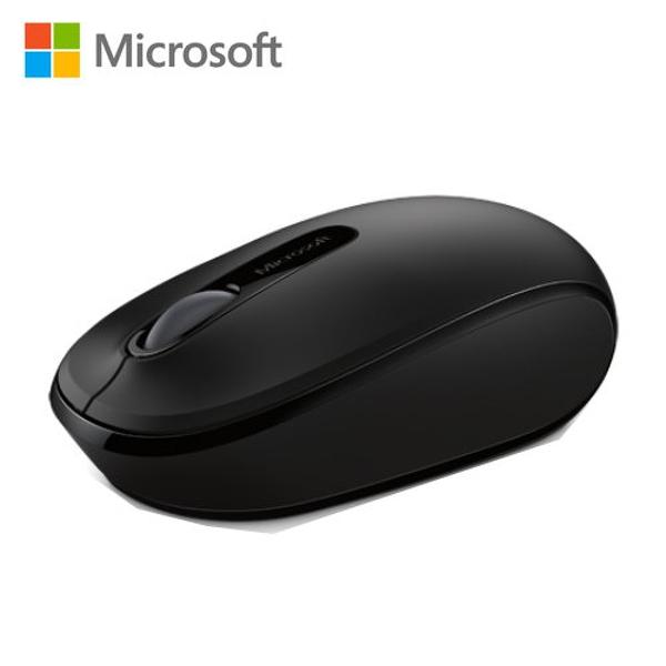 【Microsoft 微軟】1850 無線行動滑鼠 削光黑