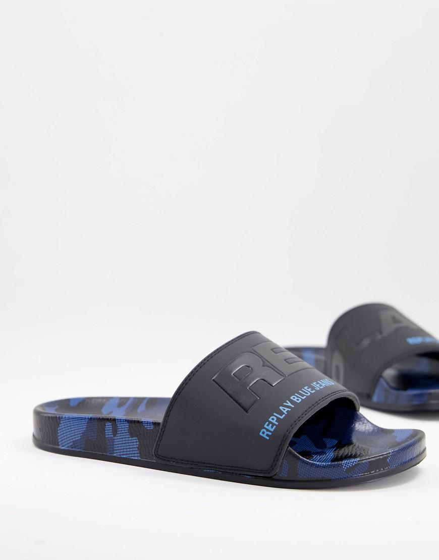 Replay logo sliders-Blue