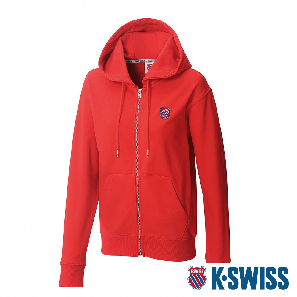 K-SWISS Court Hooded Zip-Up時尚連帽外套-女-紅 廠商直送 現貨