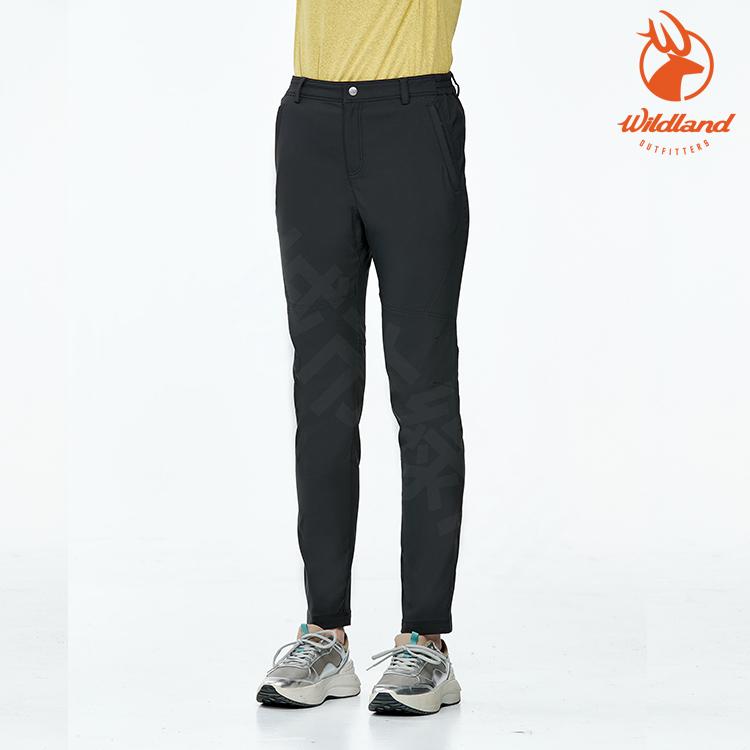 WildLand 女 彈性拼接合身透氣長褲  0A91317 【96深鐵灰】 (輕薄抗UV+、吸濕快乾、雙向彈性)