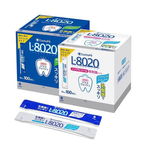 日本L8020 乳酸菌漱口水隨身包_100入10ml (清新薄荷/溫和型)