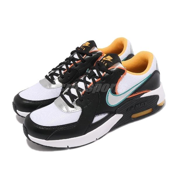 【海外限定】Nike 休閒鞋 Air Max Excee D2N GS 黑 白 橘 銀 氣墊 女鞋【ACS】 CJ2002-100