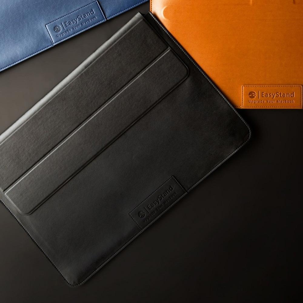 SwitchEasy EasyStand Macbook Pro 15/16 吋立架手工皮革保護套 - 黑色