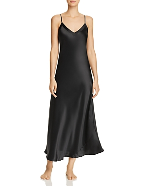 Ginia Silk V-Neck Nightgown