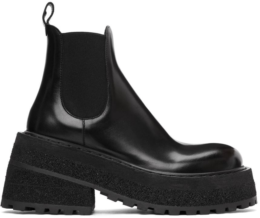 Marsèll 黑色 Carretta 踝靴