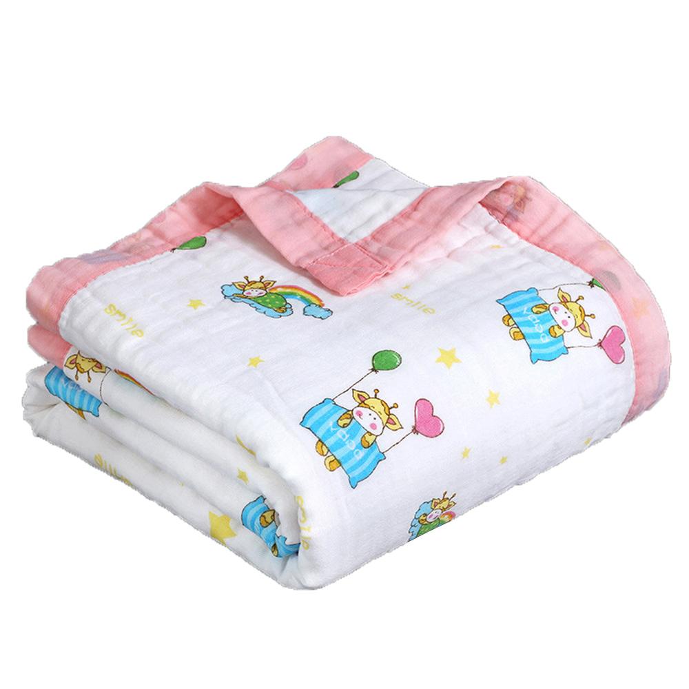【北投之家】六層紗被子 0-7歲 洗澡大浴巾四季被 俊秀牛寶寶【CH003C04205】
