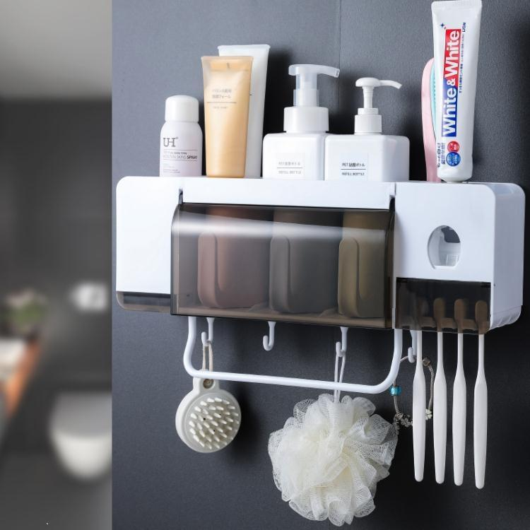 牙刷架置物架吸壁式衛生間刷牙杯牙具架子漱口杯套裝壁掛式收納架 樂樂百貨