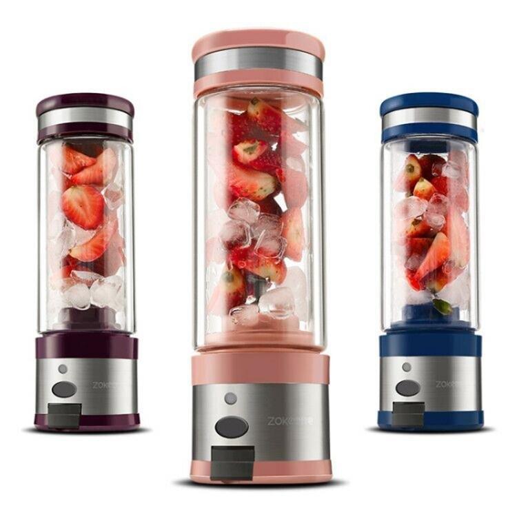 cup1電動榨汁機迷你便攜USB充電式玻璃小型炸果汁機榨汁杯 快速出貨