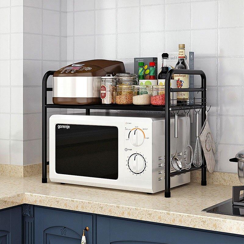 落地電器架 心家宜 廚房電器收納架置物架 金屬桌面儲物架層架烤箱微波爐架子【JB337】