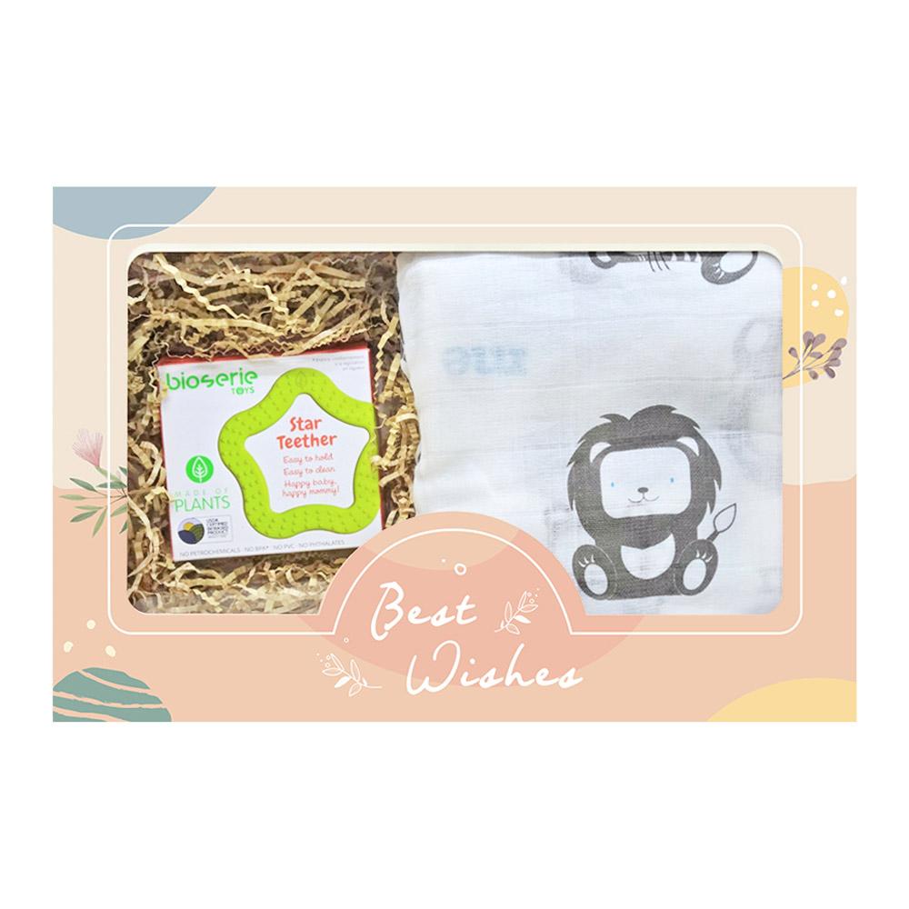 【北投之家】彌月嬰兒禮盒 隨身安撫固齒器【CH000A1001】