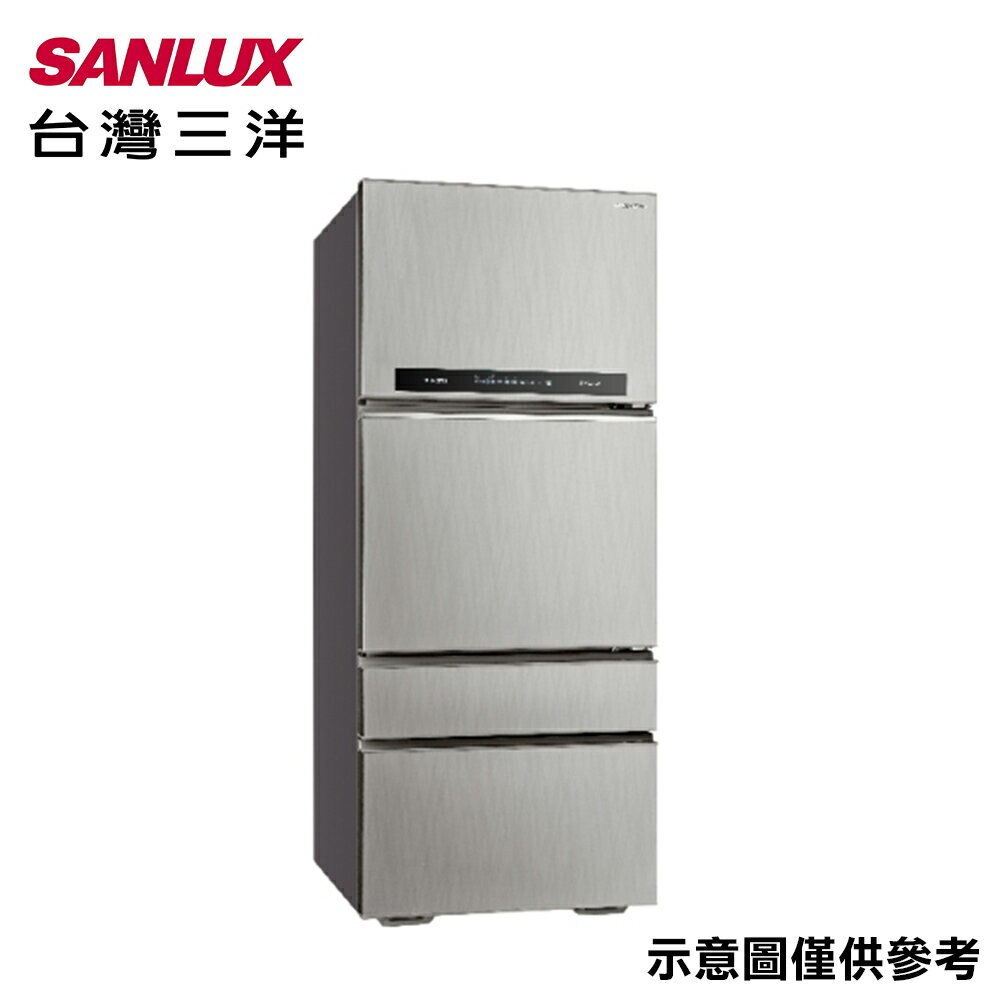 【SANLUX台灣三洋】560公升直流變頻四門冰箱SR-C560DV1【三井3C】
