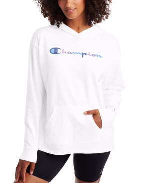 Champion Women's Color Logo Middleweight Hoodie