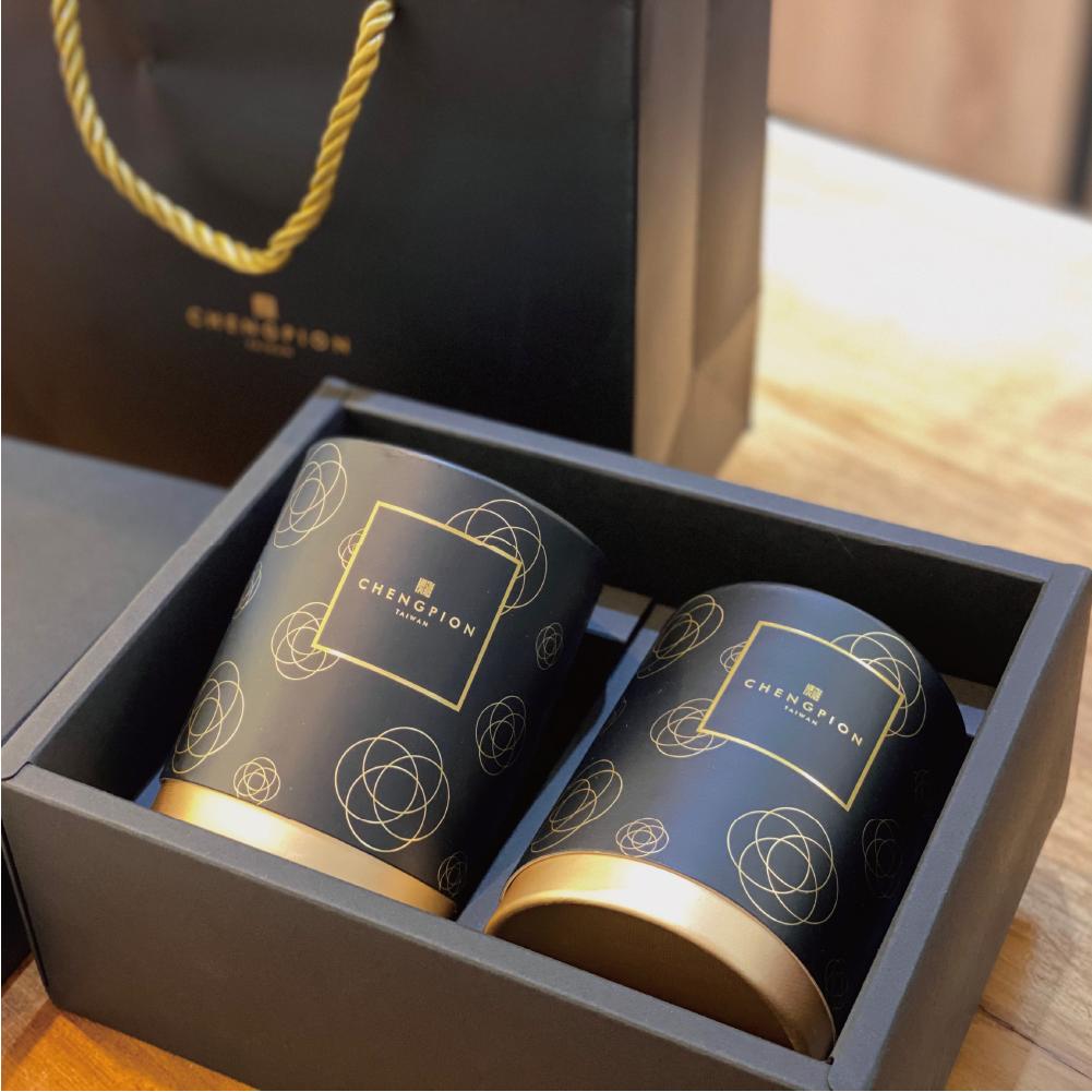 埕畔茶坊 茶葉禮盒 紅、黑色2入 高山茶、烏龍茶 