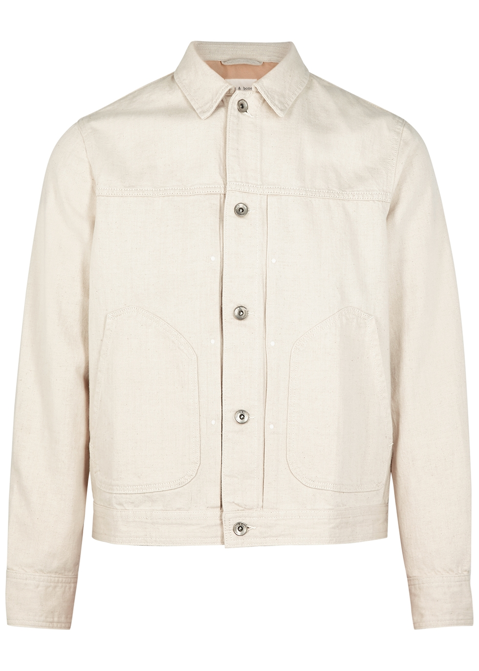 Off-white cotton-blend jacket