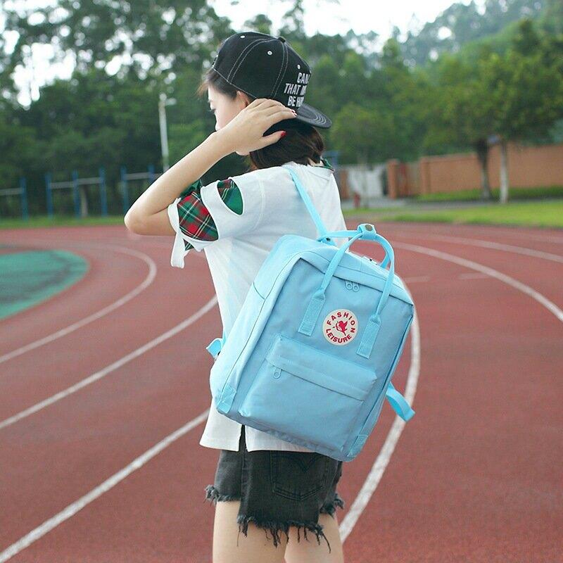 春夏新款中學生女包休閒防潑水雙肩包牛津書包女韓版學生揹包女