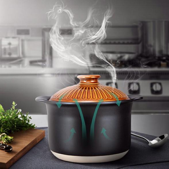 5500ml陶瓷煲湯煲大容量湯鍋燉鍋大號砂鍋耐熱耐冷陶瓷鍋【聚物優品】