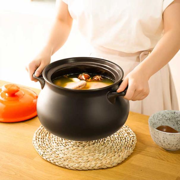 3.0L湯鍋砂鍋燉鍋新陶養生煲惠系列陶瓷煲【聚物優品】
