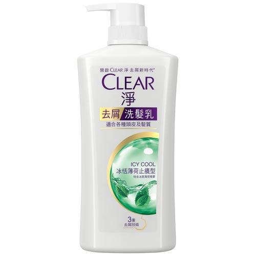 CLEAR淨女士去屑洗髮乳-冰恬薄荷止癢型750g【愛買】