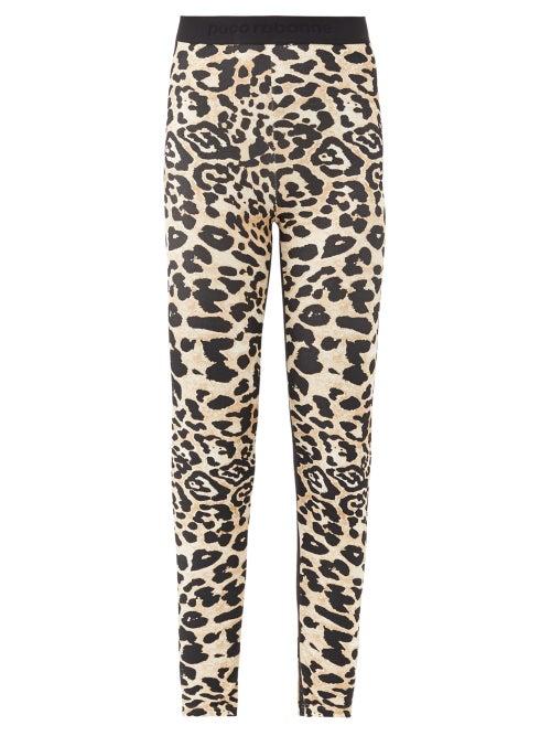 Paco Rabanne - Leopard-print Jersey Leggings - Womens - Leopard