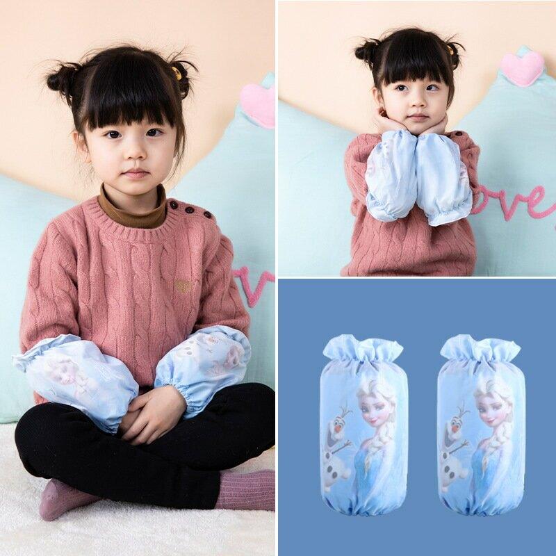 正品迪士尼兒童袖套秋冬男女孩冰雪奇緣漫威系列短款毛絨可愛護袖