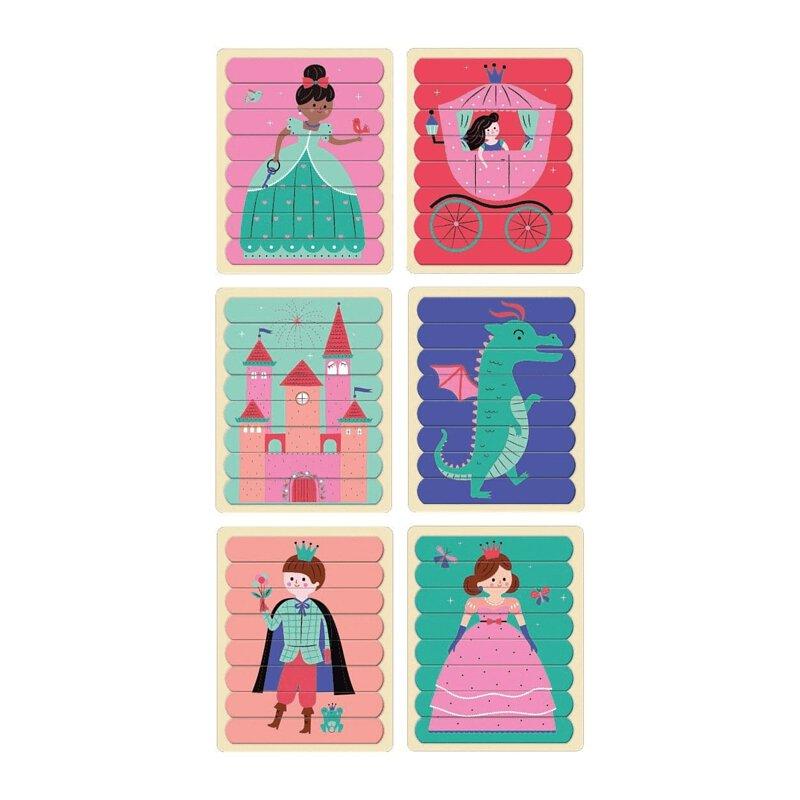 【Mudpuppy】排排拼圖棒 迷人公主