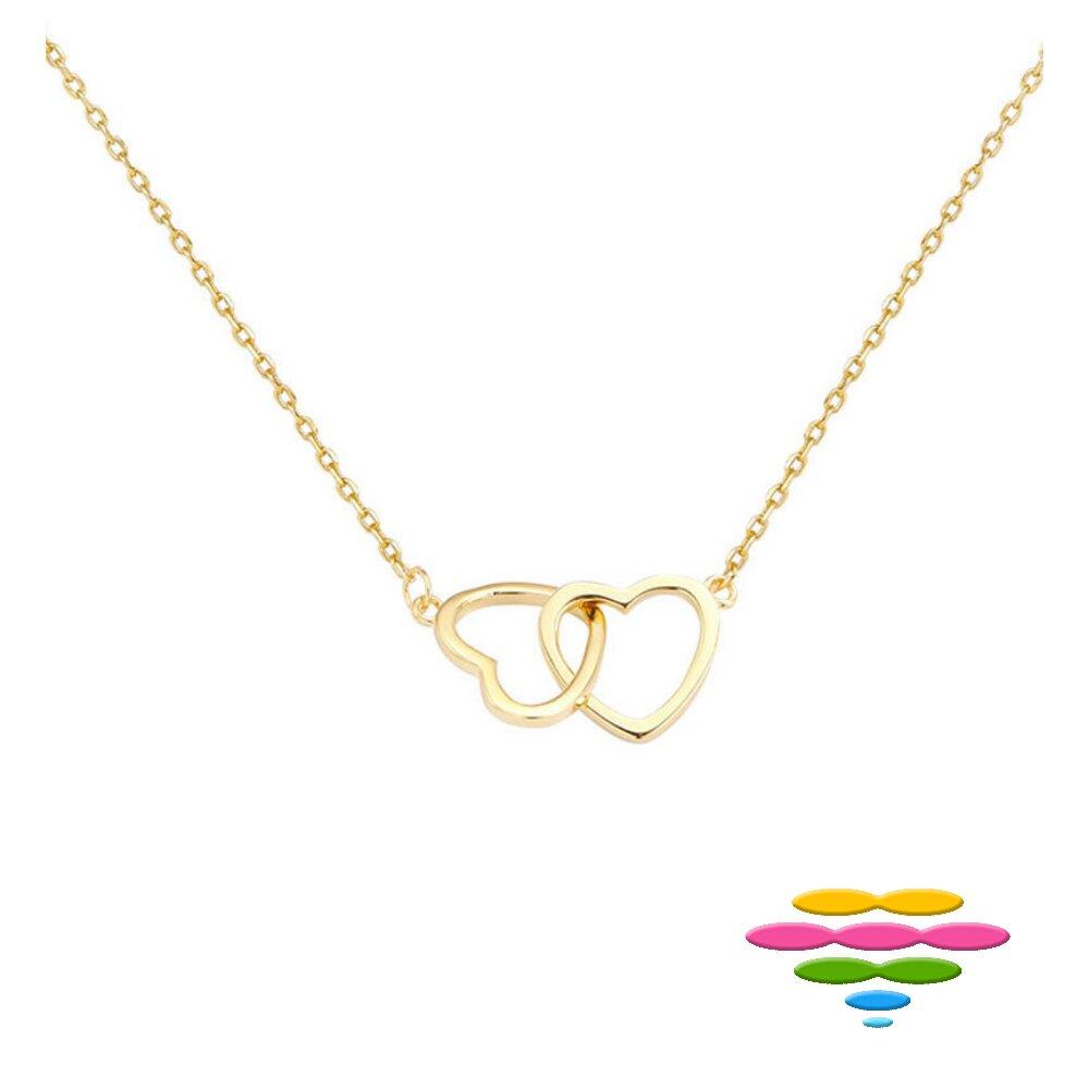 Caramelo 彩糖鑽工坊  愛心項鍊 925純銀鍍K黃 Doris 桃樂絲 系列