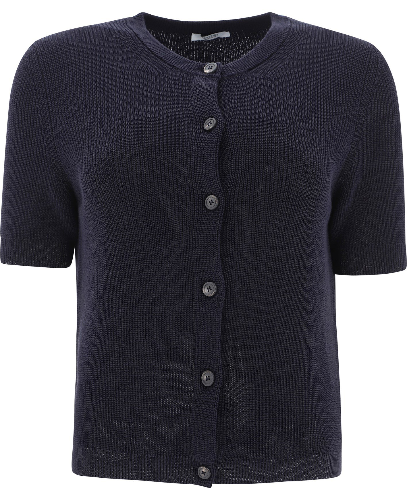 Short-sleeved tricot cardigan