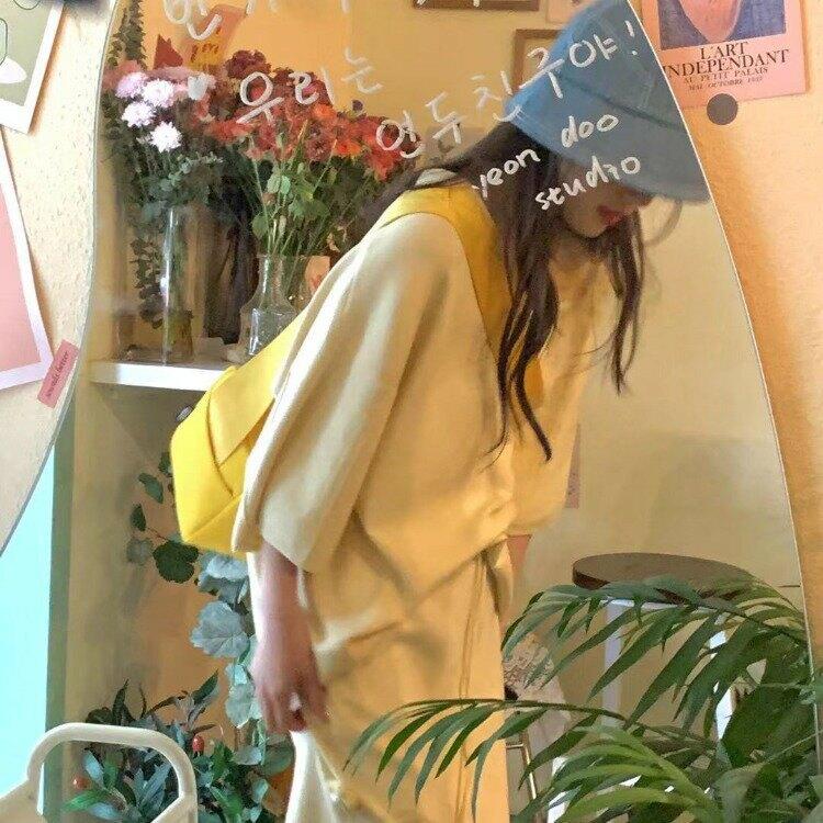 實拍   時髦又洋氣 甜美減齡顯白POLO領針織上衣+針織短褲40897