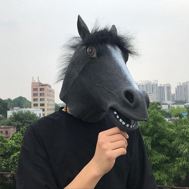 黑馬頭套 cos面具抖音主播同款 搞笑搞怪面具