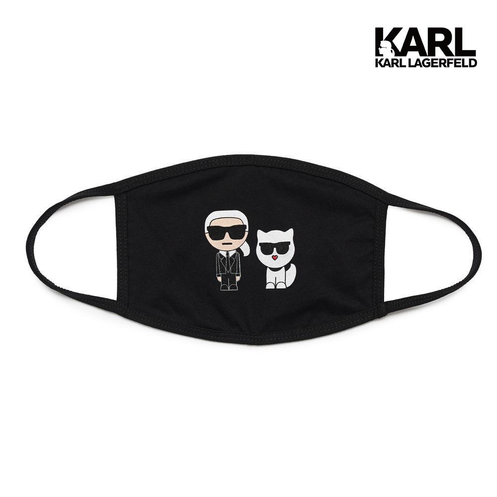【KARL LAGERFELD】IKONIK&CHOUPETTE口罩-黑 (原廠公司貨)
