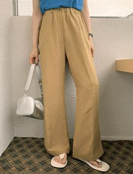 韓國空運 - Sidestring Linen Banding Pants 長褲
