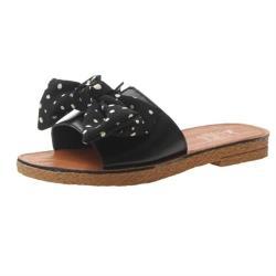 【Taroko】甜美好感蝴蝶結點點平底涼拖鞋(2色可選)
