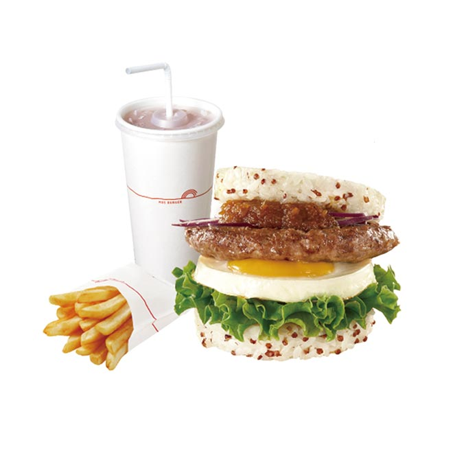 摩斯漢堡 藜麥元氣牛珍珠堡+薯條(S)+冰紅茶(L)