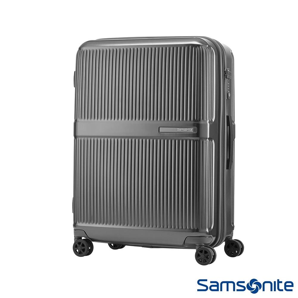 Samsonite新秀麗 24吋Dorsett極線條可擴充TSA硬殼行李箱(鐵灰)