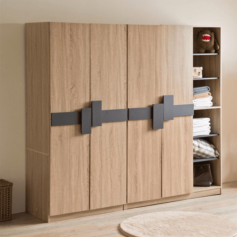 【TZUMii】日式大空間收納櫃衣帽架 沉穩雙色/開放式收納/擴充衣櫥/安全穩固
