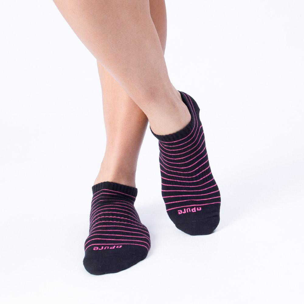 橫條紋休閒襪-黑色 (商品編號:S0101511)