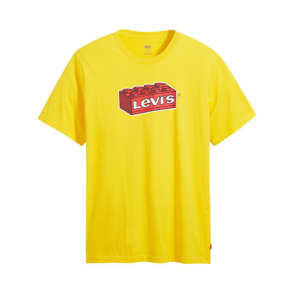 Levis X LEGO 男女同款 短袖T恤 / 經典樂高積木Logo / 寬鬆休閒版型 / 樂高黃-熱銷單品