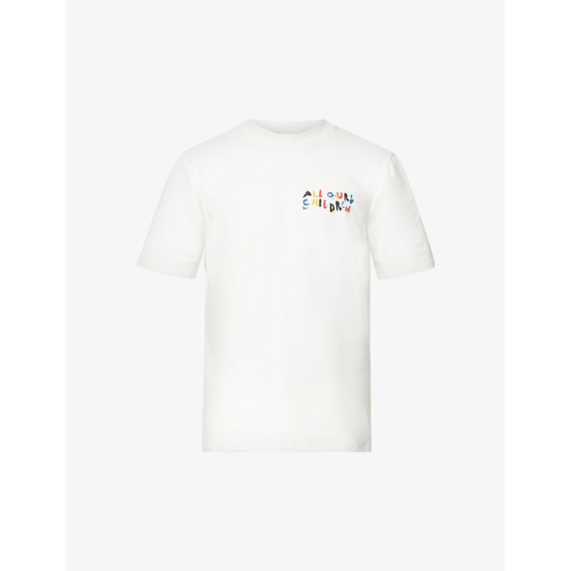 All Our Children-print stretch organic-cotton T-shirt