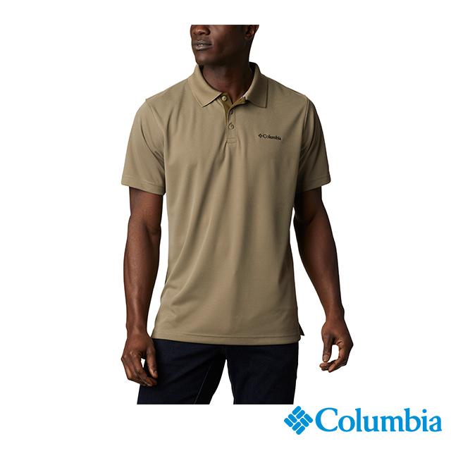 Columbia哥倫比亞 男款-UPF30快排短袖Polo衫-軍綠 UAE01260AG