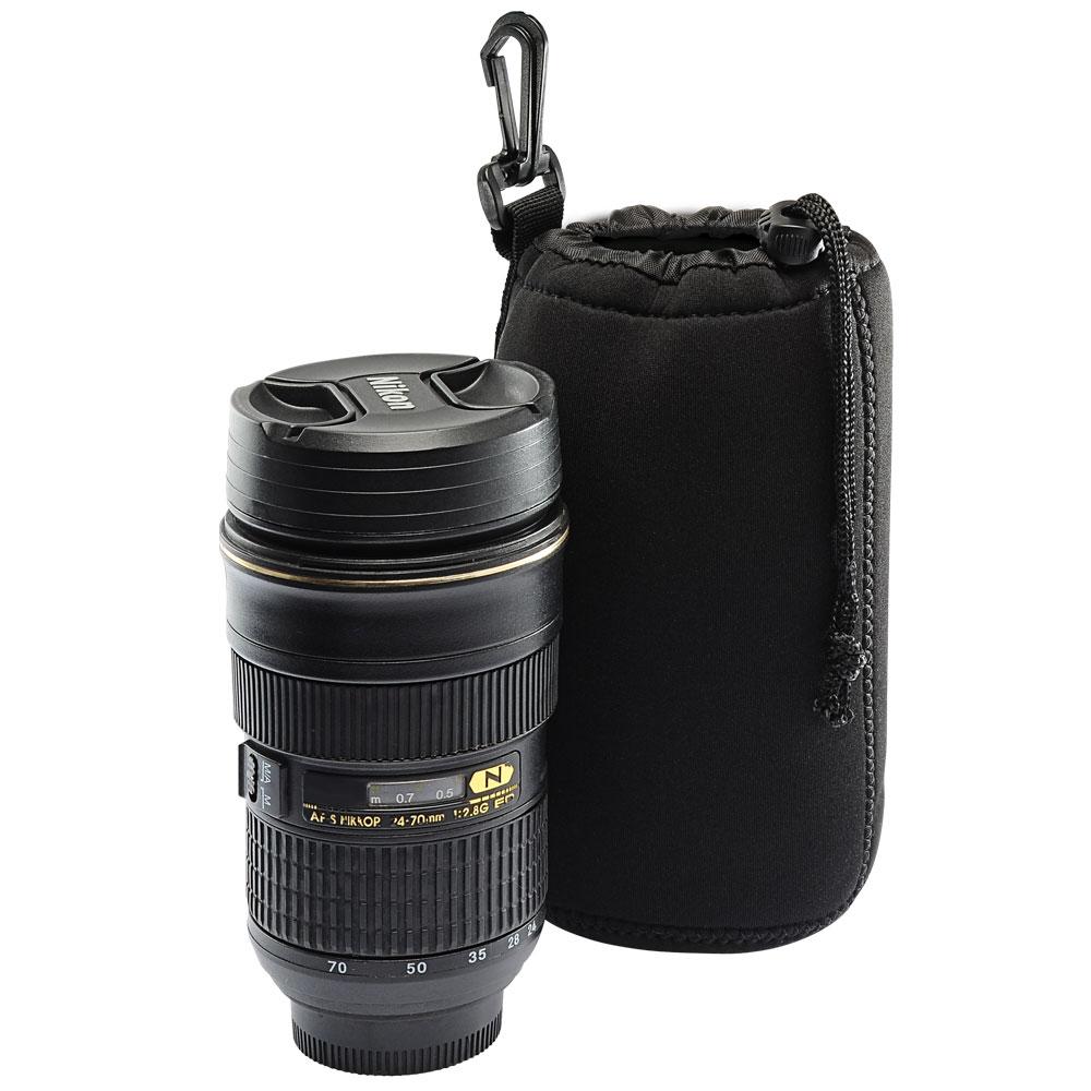 Kamera 潛水料鏡頭袋-黑(L)