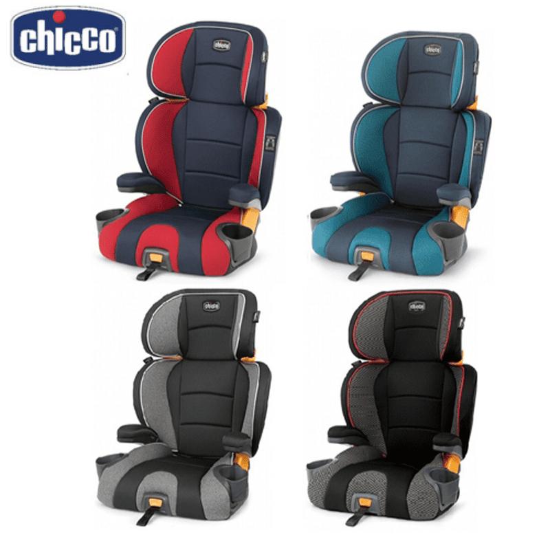 【Chicco】KidFit 成長型安全汽座 紅色、黑色、灰色、藍色