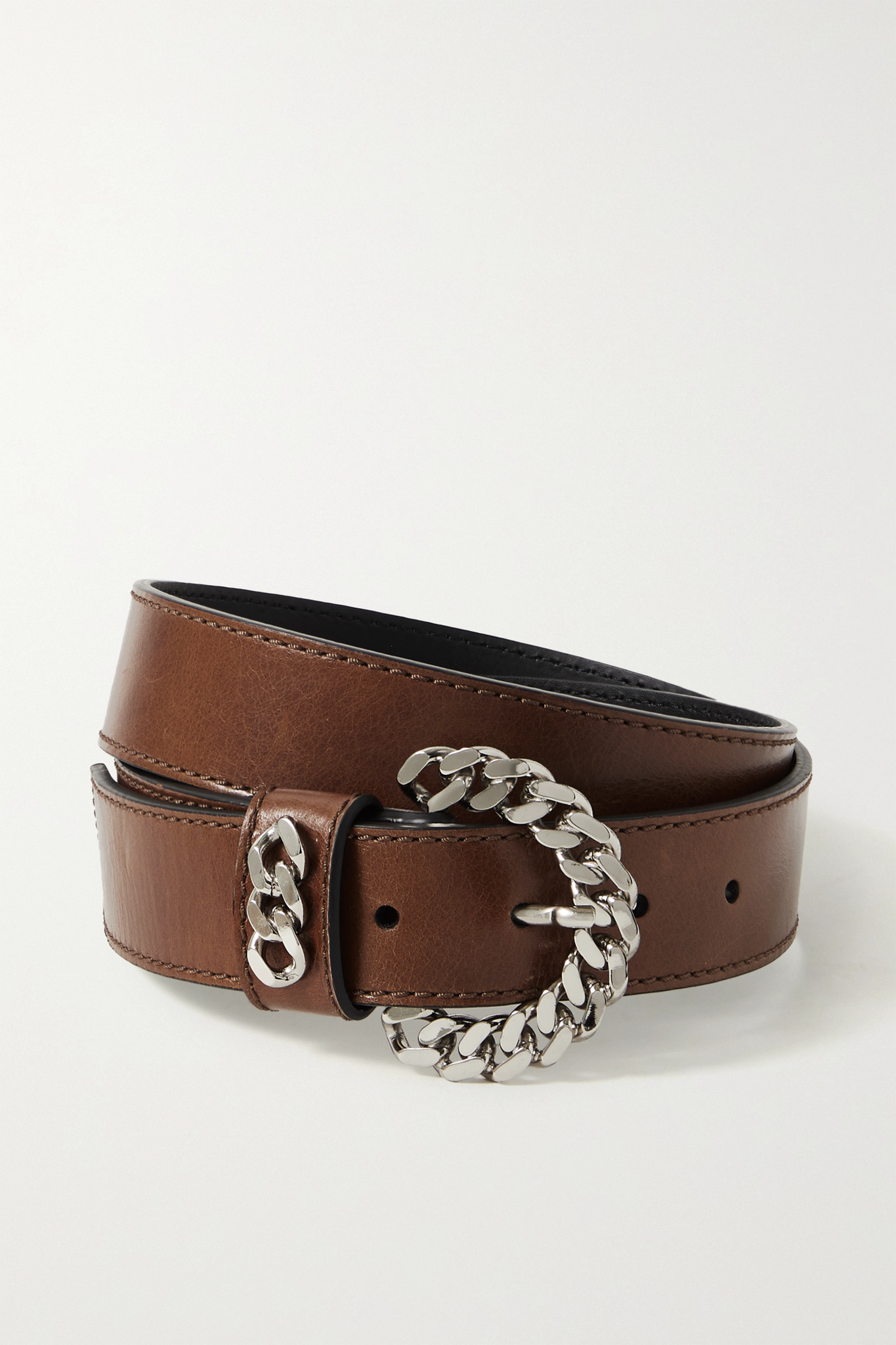 KATE CATE - + Net Sustain Embellished Leather Belt - Brown - 75