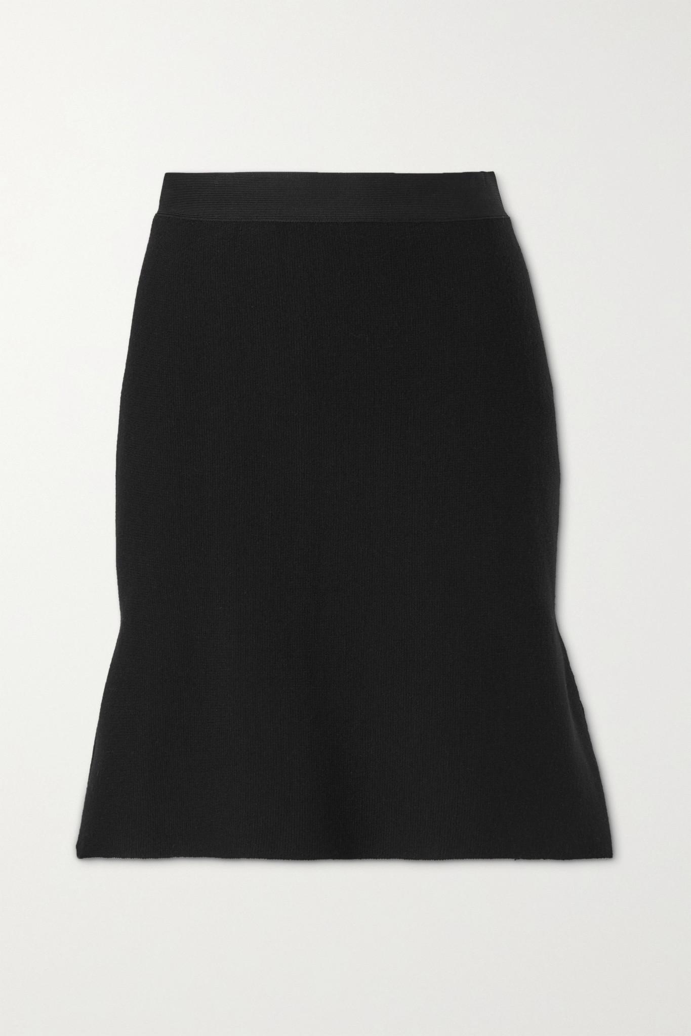 BOTTEGA VENETA - Ruffled Wool-blend Mini Skirt - Black - x small