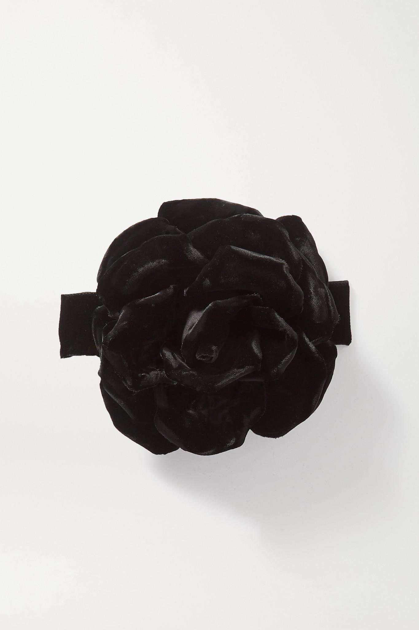 SAINT LAURENT - Velvet Choker - Black - one size