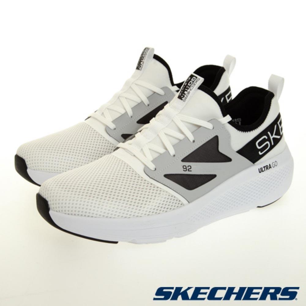 SKECHERS 慢跑系列 GO RUN ELEVATE 男 慢跑鞋 白