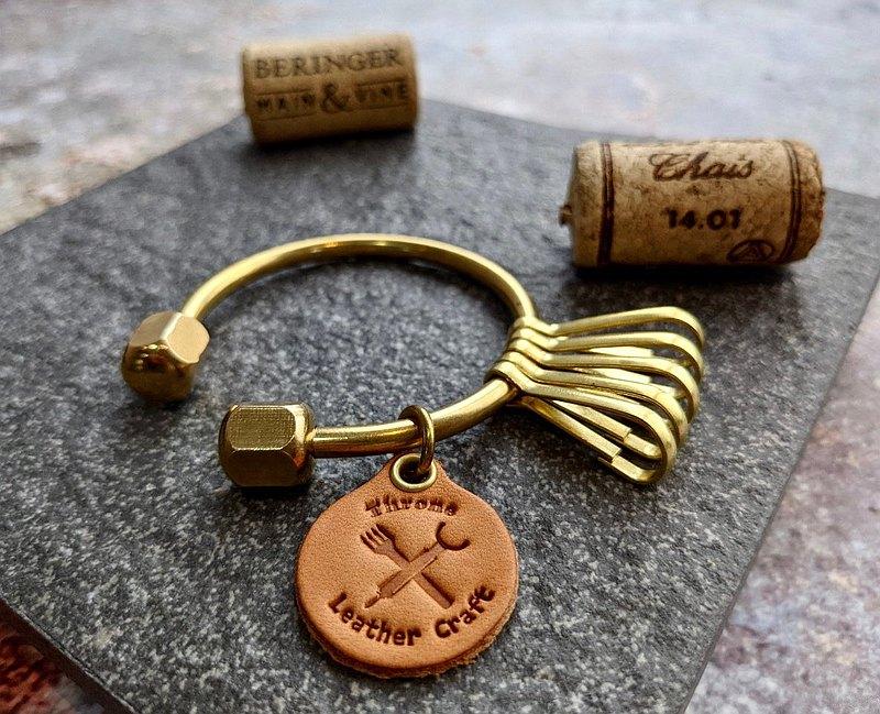 純黃銅 鑰匙圈 實心黃銅 客製化 聖誕 生日禮物【實心純黃銅】