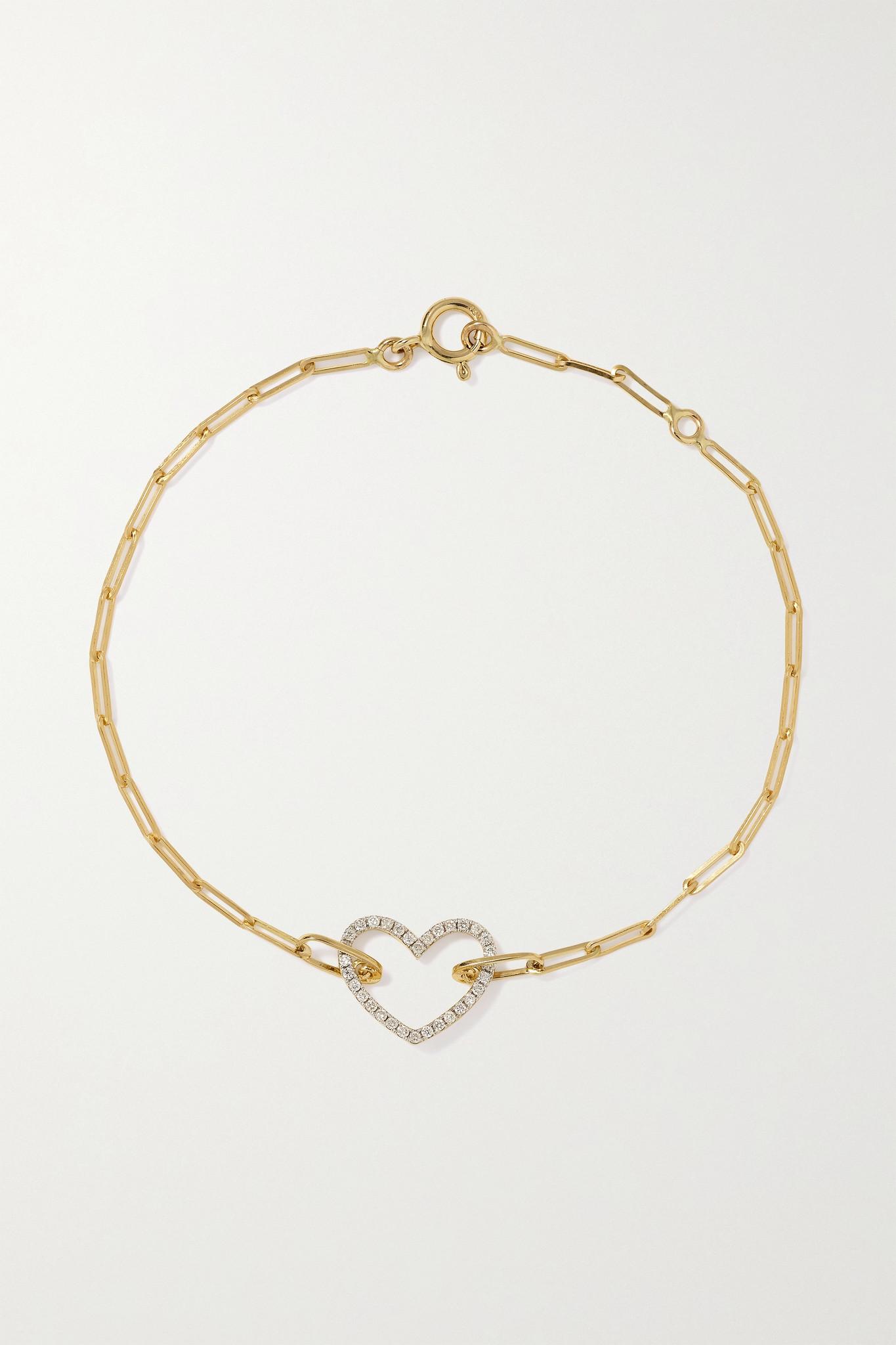 YVONNE LÉON - 18-karat Gold Diamond Bracelet - one size